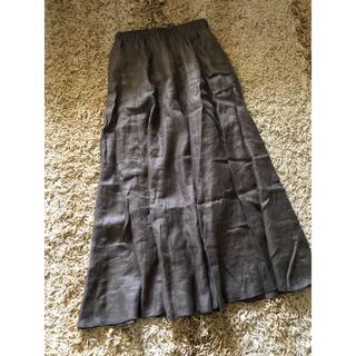 ドアーズ(DOORS / URBAN RESEARCH)のアーバンリサーチ  リネンロングスカート  mu2-9(ロングスカート)