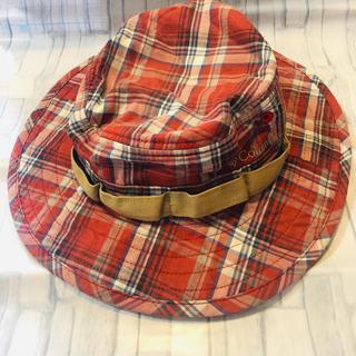 コロンビア(Columbia)の美品♡Columbia キッズ 帽子 チェック柄(帽子)
