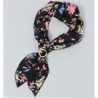 ジーナシス(JEANASIS)のJEANASIS リングツキスカーフ ブラック 新品未使用品(バンダナ/スカーフ)