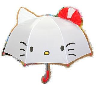 サンリオ(サンリオ)の新品 サンリオ 耳付き傘 キッズアンブレラ「ハローキティ」(傘)