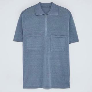 ザラ(ZARA)のZARA 人気完売品 新品未使用 リネンビスコースニット生地ポロシャツ(ポロシャツ)