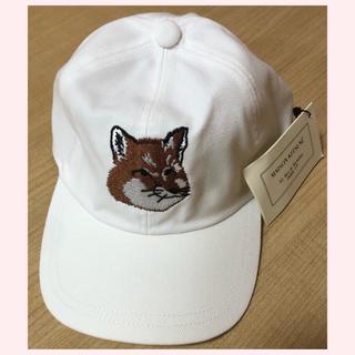 メゾンキツネ(MAISON KITSUNE')のメゾンキツネ キャップ 帽子 新品未使用(キャップ)