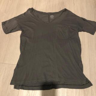 オールドネイビー(Old Navy)の薄手Tシャツグレー(Tシャツ(半袖/袖なし))