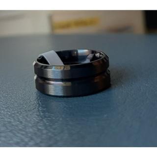 日本サイズ28号ステンレスリングメンズ/レディース8mm C320BK12(リング(指輪))