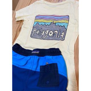 パタゴニア(patagonia)の【8/31まで限定出品】 Patagonia Tシャツ&ハーフパンツ 4T(Tシャツ/カットソー)