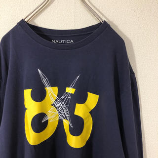 ノーティカ(NAUTICA)のNAUTICA 両面 プリント Tシャツ ロゴ 長袖 ロンT グラフィック 古着(Tシャツ/カットソー(七分/長袖))