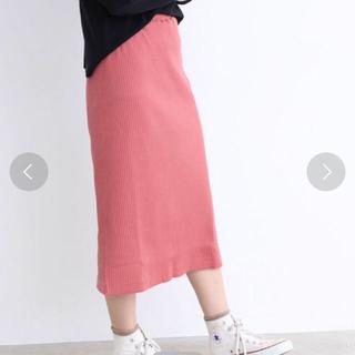 ドットアンドストライプスチャイルドウーマン(Dot&Stripes CHILDWOMAN)のシャイニーワイドテレコタイトスカート(ロングスカート)