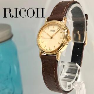 リコー時計 レディース腕時計 新品電池 アンティーク時計 90