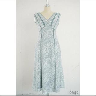 フレイアイディー(FRAY I.D)のher lip to Lace Trimmed Floral Dress(ロングワンピース/マキシワンピース)