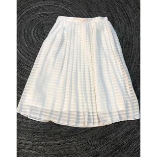 ワールドベーシック(WORLD BASIC)のプリーツ膝丈スカート(ひざ丈スカート)