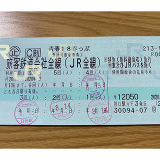 ジェイアール(JR)の青春18きっぷ だっちさん専用(鉄道乗車券)