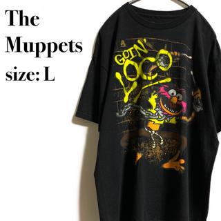 セサミストリート(SESAME STREET)のThe Muppets  アニマル プリントTシャツ  Tシャツ ザ マペッツ(Tシャツ/カットソー(半袖/袖なし))