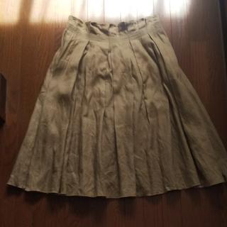 ウィムニールス(WIM NEELS)のWIM NEELS JUPE 麻100% リネン スカート(ひざ丈スカート)