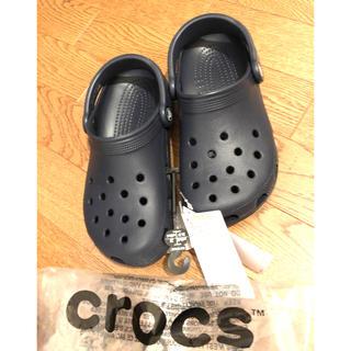 crocs - [crocs[クロックス] サンダル クラシック クロッグ ネイビー新品22cm