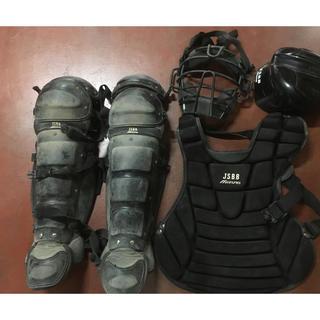 ミズノ(MIZUNO)のミズノキャッチャー防具 ブラック一般軟式用(防具)
