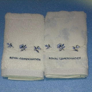 ロイヤルコペンハーゲン(ROYAL COPENHAGEN)のROYAL COPENHAGEN 訳ありウォッシュタオル2枚セット(タオル/バス用品)