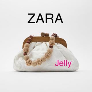 ザラ(ZARA)の【タグ付き新品】ザラ がま口型 ファブリック バッグ(ハンドバッグ)