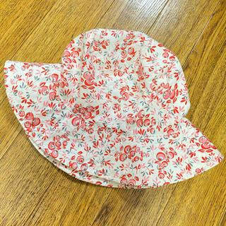 アニエスベー(agnes b.)のアニエスベー キッズ 花柄 白 帽子 ハット(帽子)