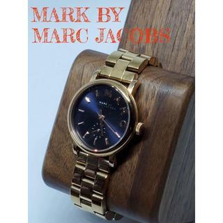 マークバイマークジェイコブス(MARC BY MARC JACOBS)の【美品】箱付き MARC JACOBS マークジェイコブス 腕時計 ゴールド(腕時計)