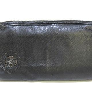 クロムハーツ(Chrome Hearts)のクロムハーツ 長財布 - 黒 レザー(財布)