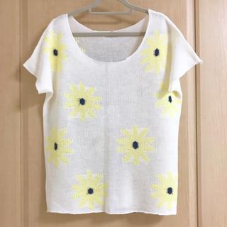 アンレリッシュ(UNRELISH)の半袖ニット セーター 花柄(Tシャツ(半袖/袖なし))