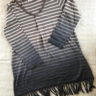 ユナイテッドアローズ(UNITED ARROWS)のユナイテッドアローズのフリンジ、グラデーション長袖Tシャツ(Tシャツ(長袖/七分))