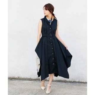 アメリヴィンテージ(Ameri VINTAGE)のJAGGY HEM DRESS(ひざ丈ワンピース)