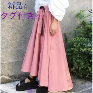 グラミチ(GRAMICCI)の新品未使用⭐︎タグ付⭐︎k3×GRAMICCI ピンク ロングスカート ワンピ(ロングスカート)