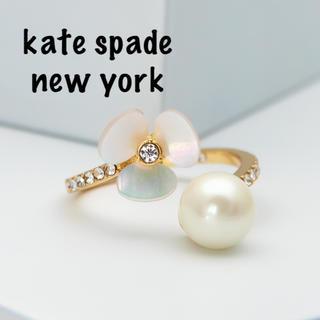 ケイトスペードニューヨーク(kate spade new york)の【新品¨̮♡︎】ケイトスペード ディスコパンジー リング(リング(指輪))