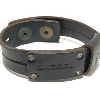 ディーゼル(DIESEL)のディーゼル ブレスレット - レザー 黒(ブレスレット/バングル)