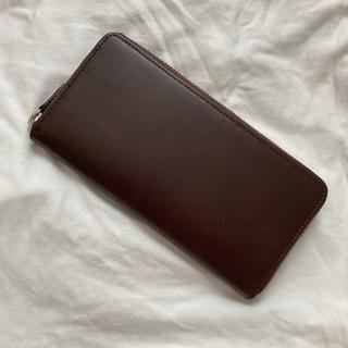 ムジルシリョウヒン(MUJI (無印良品))の無印良品 ワントーン ブラウン 長財布(長財布)