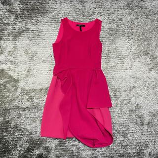 ビーシービージーマックスアズリア(BCBGMAXAZRIA)のbcbgmaxazria 変形スカート  ワンピース 高級ドレス(ひざ丈ワンピース)