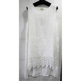 カワイイ(cawaii)のcawaii 白い袖無しチュニック M-Lサイズ?(チュニック)