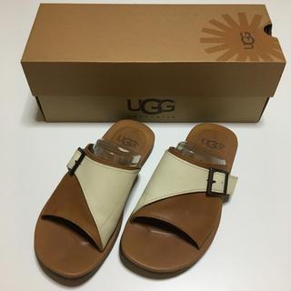 アグ(UGG)の美品 UGG アグ australia 25cm サンダル 天然皮革 (サンダル)