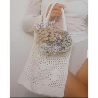 エディットフォールル(EDIT.FOR LULU)のpoms floral tote(トートバッグ)