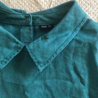 パーリッシィ(PAR ICI)のPAR ICI グリーン 半袖シャツ(シャツ/ブラウス(半袖/袖なし))