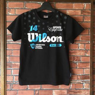 ウィルソン(wilson)のwilson ウィルソン 半袖Tシャツ 150cm スポーツ 黒 プリントT(Tシャツ/カットソー)