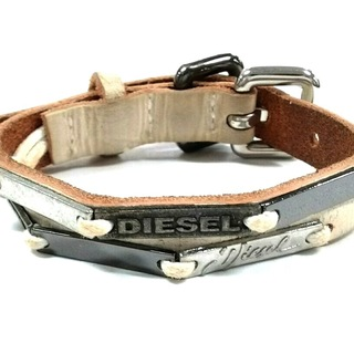 ディーゼル(DIESEL)のディーゼル ブレスレット レザー×金属素材(ブレスレット/バングル)