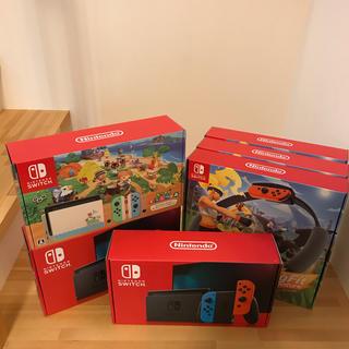 ニンテンドースイッチ(Nintendo Switch)のあつ森1台、ネオン2台、ニンテンドースイッチ  リングフィットアドベンチャー3台(家庭用ゲーム機本体)