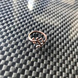 オリーブの枝葉デザインオープンリング(リング(指輪))