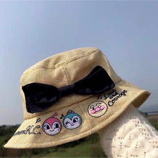 超萌 ベビー キッズ アンパンマン 子供用 帽子 日よけ通気 綿 軽い かわいい(帽子)
