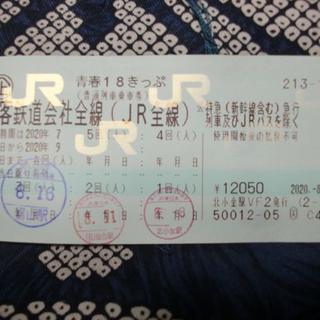 青春18きっぷ 2020夏 2回分(鉄道乗車券)