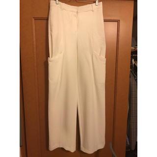 バレンシアガ(Balenciaga)のJACQUEMUS 19AW ホワイトパンツ スラックス 変形パンツ サイズ36(スラックス)