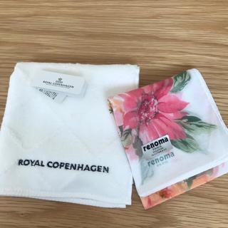 ロイヤルコペンハーゲン(ROYAL COPENHAGEN)のハンドタオル ハンカチ ロイヤルコペンハーゲン レノマ(日用品/生活雑貨)