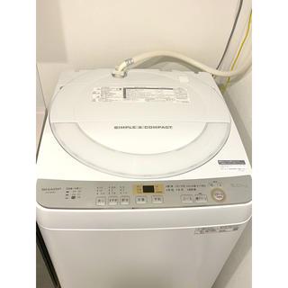 SHARP - SHARP 6kg洗濯機  2019年製 人気の穴なし槽 半年間使用
