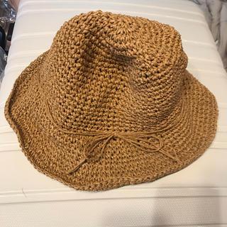ディーホリック(dholic)の新品♡UVカット 折りたたみ可能 麦わら帽子 ベージュ(麦わら帽子/ストローハット)