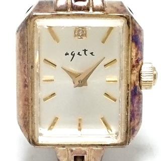 アガット(agete)のアガット 腕時計 レディース アイボリー(腕時計)