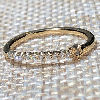 スタージュエリー(STAR JEWELRY)のスタージュエリー K18 YG ダイヤ ピンキー リング(リング(指輪))