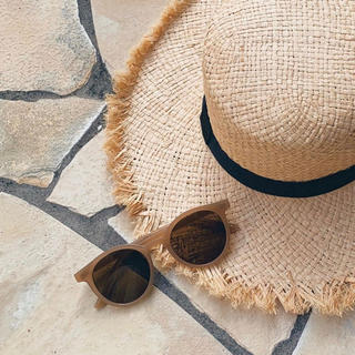 アメリヴィンテージ(Ameri VINTAGE)のベージュ ラウンド型サングラス  フレーム 茶 beige レディース 眼鏡(サングラス/メガネ)