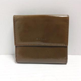 マルニ(Marni)のMARNI(マルニ) Wホック財布 ダークブラウン(財布)